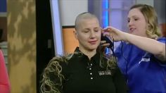 Amy's Headshave at Radiostation To Spread Awareness of Cancer Donation B...