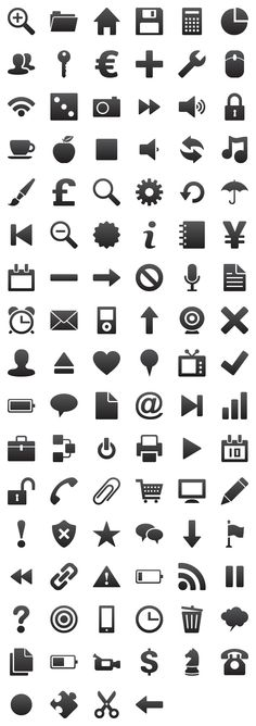 """""""#Symbolize"""" #icon #set, contains 100 #icons. Comes with a Free, Commercial and Extended License."""