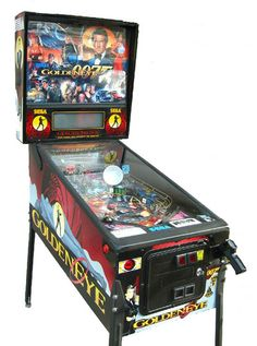 Pinball Machines - Goldeneye 007 Pinball Machine - The Pinball Company Darkness Film, 007 Goldeneye, Pinball Wizard, New Star Trek, Electronic Gifts, Casino Royale, James Bond, Arcade Games, Game Room
