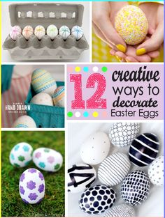 12 Creative Ways to Decorate Easter Eggs @ The Girl Creative #Easter #eggs #kids