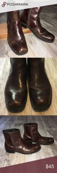 Alfani: Oxblood Boots Men's Alfani:  Leather, dress, boots in oxblood. No lace... zipper on both sides of boots.  Good condition! Alfani Shoes Boots