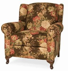 """Rachael"" floral shabby chic reading chair from Victorian Trading Co."