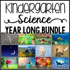 Everything you need for a stress-free year of science instruction for your kindergarten class or homeschool! ⭐ These lessons and activities provide a fun introduction to science concepts without being overwhelming for your little learners! Includes:✅ 36 weeks of NGSS aligned lesson plans
