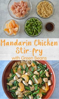 This Mandarin Chicken Stir-Fry with green beans is an easy go-to weeknight dinner and leftovers can easily be repurposed in a Thermos for stress-free lunch the next day. Easy Weeknight Dinners, Quick Meals, Mandarin Chicken, Non Sandwich Lunches, Chicken Stir Fry, One Pot Meals, Stress Free, Fruits And Veggies, Meal Ideas