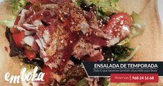 hoy martes te traemos una  buenísima Ensalada de temporada, mezclum de lechugas, pimientos asados , jamón ibérico , atún, y cebolla crujiente ¿ a qué apetece ? reservas 968244668 ¡ estamos en la flota!