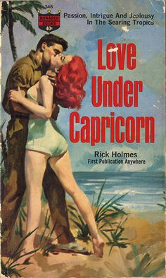 Love Under Capricorn pulp novel. Redhead cover girl.