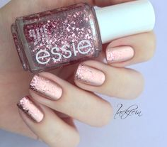 Essie, Base: Penny Talk, Top: A Cut Above