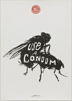 James Victore. Use a Condom/ Bugs. - I don't know if it's supposed to be funny, but it makes me smile.