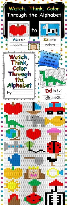 Add a little math to your letter sounds!  This set includes a picture for each letter of the alphabet!  Use finished designs to create an alphabet book. $
