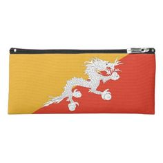 Patriotic pencil case with flag of Bhutan - boy gifts gift ideas diy unique