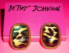 Betsey Johnson Earrings – Wild Animal Print Studs – Free Shipping $9.95