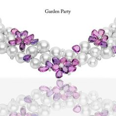 ‪#‎Mikimoto‬'s Petal Necklace designed was inspired by the African violet, where extremely rare purple sapphires bring out the exquisite angles of the beautifully blossoming petals.