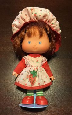 Vintage Brazilian Strawberry Shortcake Little Strawberry Last Series Brazil Doll #Dolls