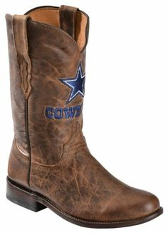 Lucchese Handcrafted 1883 Dallas Cowboys Mad Goat Roper Cowboy Boots - Round Toe - Sheplers