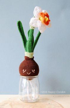 Narcissus bulb - spring flower amigurumi amigurumi by Happy Coridon