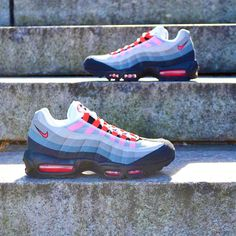 8abbdecc819e6b NIKE AIR MAX 95 WHITE SOLAR RED COOL GREY BLACK PINK 609048 106