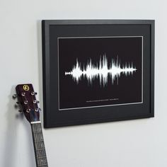 Personalised song or voice sound wave print