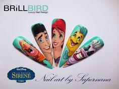 La petite sirène de Walt Disney Sébastien (le crabe), Eric (le prince), Ariel, Polochon (le poisson) et Ursulla (la pieuvre méchante)