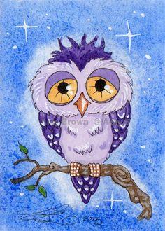 """""""Purple Owl"""" par Amy Brown"""