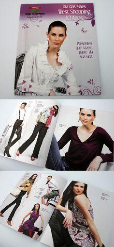 Catálogo para o West Shopping.