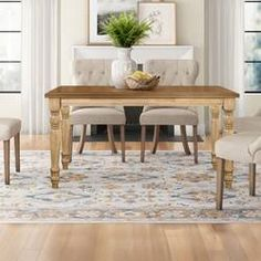Kelly Clarkson Home Sylvan Extendable Dining Table & Reviews | Wayfair Counter Height Kitchen Table, Table Height, Kitchen Tables, Extendable Dining Table, Dining Bench, Dining Room, Chunky Dining Table, Just Pizza, Chair Bench