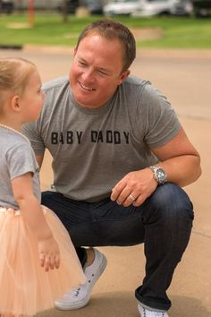 Baby daddy t-shirt. This trendy graphic t-shirt is a must have gift for Father's Day or any dad to be! Unisex fit. 50% polyester 25% rayon 25% cotton. Josh is w