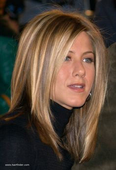 Jennifer Aniston has superior hair. I just love her color. I wish she would drastically change her hair style/color and surprise everyone. It would really get everyone talking! Plus, it would be so fun to see women follow suit. LOL.