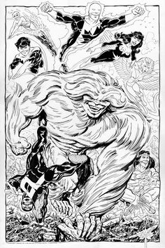 Marvel Comics of the 1980s: Alpha Flight Commission by John Byrne