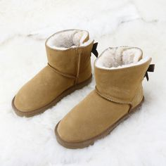 HKUGC Brand 2017 New Fashion Women Snow Boots Real Leather Winter Warm Snow Boots Women Shoes Ankle Boots free shipping #Affiliate
