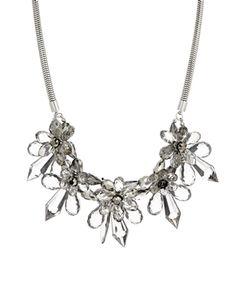 Coast Gray Floral Necklace
