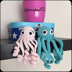 Looks like someone has a girlfriend!  #crochet #virkkaus #amigurumi #keskonen #turvalonkero #octopus #mustekala #instacrochet #prematurebaby by jennykoo82