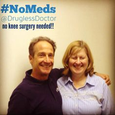 In this week's #NoMeds story, one of my patients thought her only option was knee surgery for her knee pain. However, she started chiropractic care and improved her diet, and has now lost weight and had NO surgery!! #health #chiropractic http://youtu.be/sZSsNq9wkhg