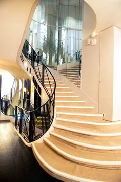 coco's mirrored staircase where she could see it all
