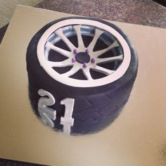 Tyre rim cake