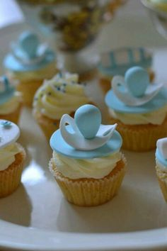 The cutest baby shower cupcakes you& ever make, eat, or see! We& gathered best baby shower cupcakes to help inspire others. The mommy-to-be will cry over how darn cute these cupcakes are! Baby Cakes, Baby Shower Cupcakes For Boy, Baby Cupcake, Cupcakes For Boys, Baby Shower Parties, Baby Boy Shower, Birthday Cupcakes, Ladybug Cupcakes, Kitty Cupcakes