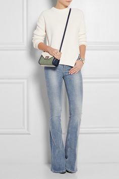 Mulberry|Delphie Duo small woven-paneled leather shoulder bag|NET-A-PORTER.COM MULBERRY Delphie Duo small woven-paneled leather shoulder bag $1,500
