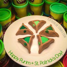 Happy Purim and St. Patrick's Day (tomorrow)! Enjoy the #PlayDoh St. Patrick Hamantashen!