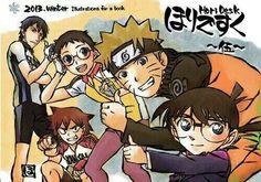 Yowamushi Pedal, Naruto, Detective Conan