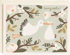 Stork Baby Card