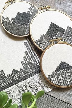 Geometric Embroidery Work by Stephanie Lapre                                                                                                                                                                                 More