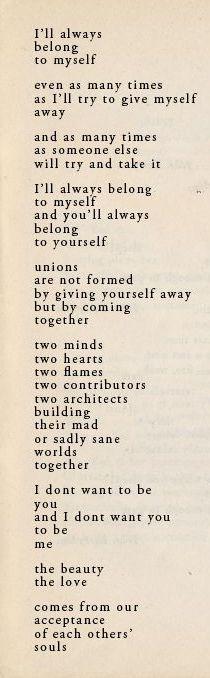 ¤ Poet Ponderings ¤ poetry, quotes & haiku - Ranier Maria Rilke   I'll Always Belong to Myself