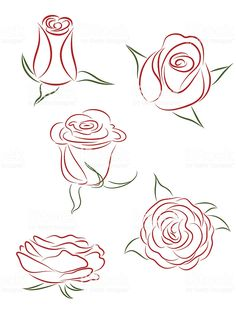Five graphic drawings of a flower as it blooms royalty-free five graphic drawings of a flower as it blooms stock vector art & more images of bud