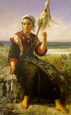 The Rest of the Haymakers, 1872, Jules Breton (1827 - 1906).