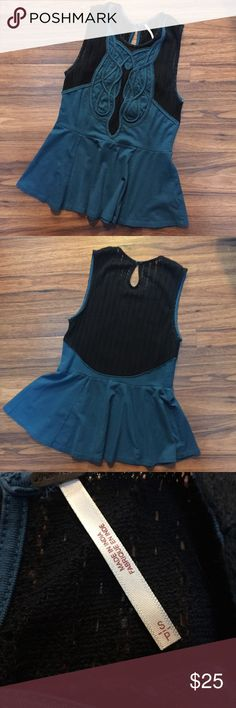 Free People Peplum Top FP Peplum Top :: Super Comfy Mesh and Stretch Fabrics :: No Flaws Free People Tops Blouses