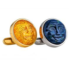 Sun And Moon Mens Cuff Links | From a unique collection of vintage cufflinks at http://www.1stdibs.com/jewelry/cufflinks/cufflinks/