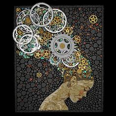 mosaic with gears - Laura Harris