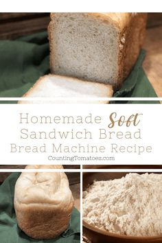The best Homemade Soft Sandwich Bread recipe. This recipe is delicious, simple a… The best Homemade Soft Sandwich Bread recipe. This recipe is delicious, simple and easy to make in your bread machine! Only 5 ingredients! Soft Bread Machine Recipe, Soft Sandwich Bread Recipe, White Bread Machine Recipes, Homemade Sandwich Bread, Best Bread Machine, Bread Maker Recipes, Easy Bread Recipes, Homemade Breads, Homemade Recipe