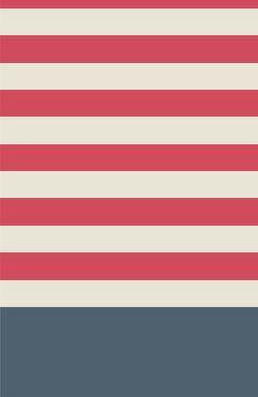 Red Nautical Stripes Artsy Vintage   Art Print