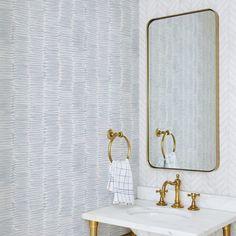 Scribble Wallpaper in Pale Blue