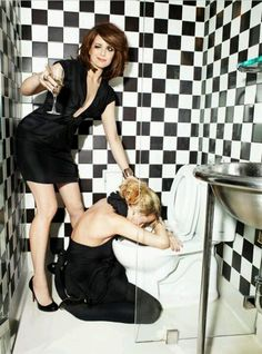 Tina Fey & Amy Poehler. I want to be and/or be friends with these two.